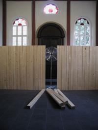 Synagogue Stommeln, Roman Signer, Installation View